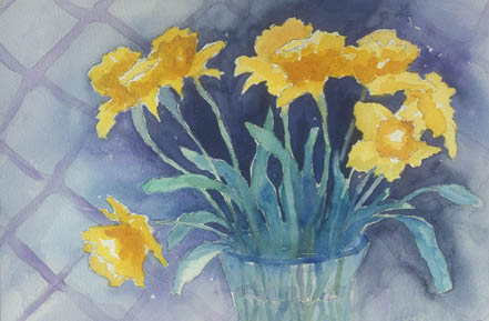 Daffodils with Lattice